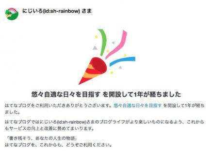 【祝・ブログ開設1周年】ありがとうとしか言えない!