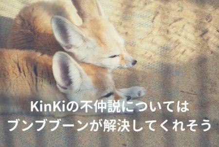 KinKiの不仲説については、ブンブブーンが解決してくれそう