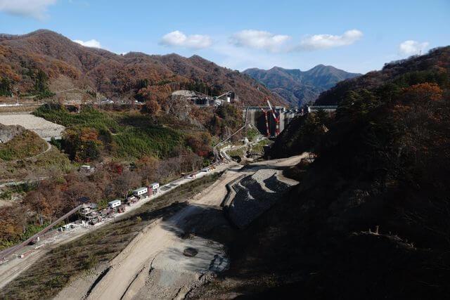 【写真】建設中の八ッ場ダムを見てきました